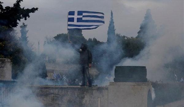 Επεισόδια σημάδεψαν το συλλαλητήριο για τη Μακεδονία. Επτά συλλήψεις