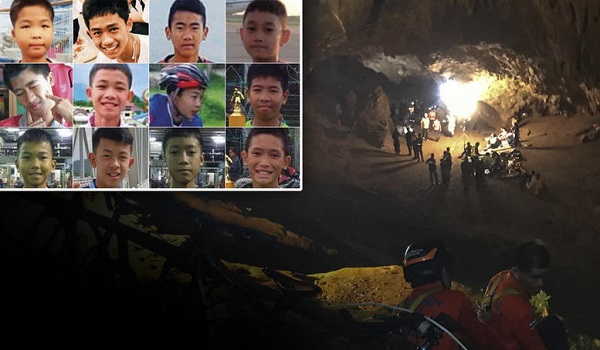 Kοιμισμένα βγήκαν από το σπήλαιο στην Ταϊλάνδη τα 12 παιδιά