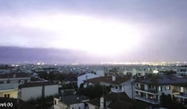 Τimelapse: Συγκλονιστικό βίντεο από την εξέλιξη της φονική κακοκαιρίας στην Χαλκιδική