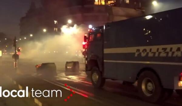Επεισόδια στο Τορίνο μετά από εκκένωση κατάληψης