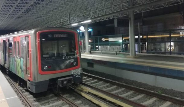 Εκτροχιάστηκε συρμός του ΗΣΑΠ στο σταθμό του Ηρακλείου
