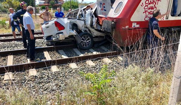 Τραγωδία στα Διαβατά: Νεκρή η έγκυος από το τροχαίο με το τρένο
