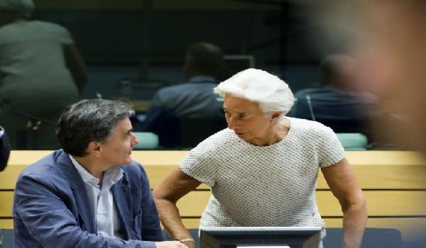 Κρίσιμη συνάντηση Τσακαλώτου - Λαγκάρντ για τις συντάξεις