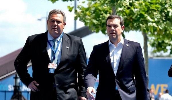 Συνάντηση Τσίπρα -  Καμμένου: Θα δούμε τι θα γίνει με τη συμφωνία των Πρεσπών το Μάρτιο