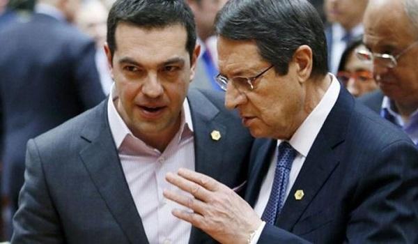 Κοινή γραμμή Τσίπρα - Αναστασιάδη με στόχο την άμεση υιοθέτηση μέτρων κατά της Τουρκίας