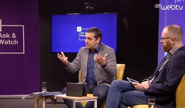 Ο Τσίπρας απαντά στα ερωτήματα των μελών του iSYRIZA. LIVE