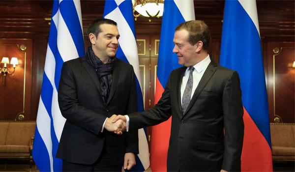 Η συνάντηση Τσίπρα - Μεντβέντεφ στην Μόσχα