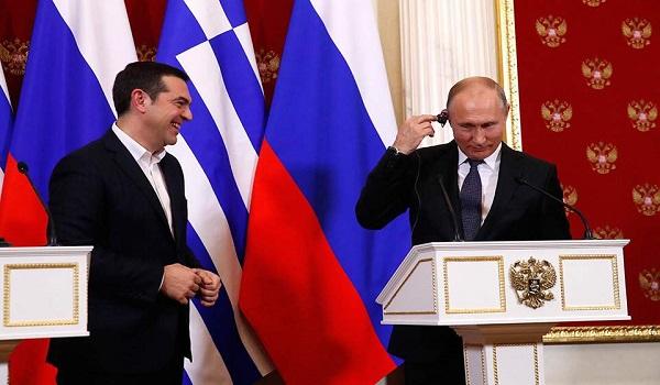 Το σχόλιο του Τσίπρα για τη γραβάτα και η Μαρινέλλα αλά ρωσικά