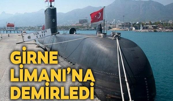 Στο λιμάνι της Κερύνειας αγκυροβόλησε τουρκικό υποβρύχιο