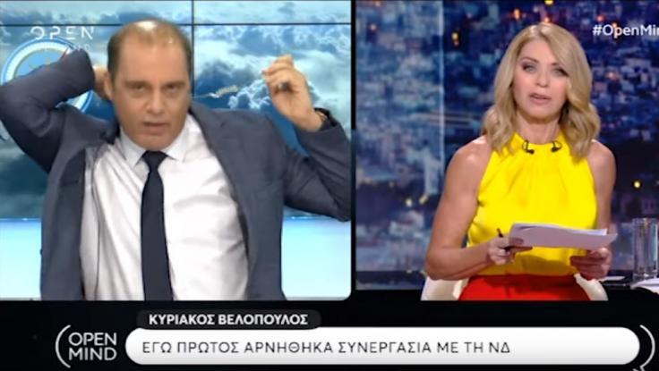 Άγρια κόντρα Βελόπουλου - Στάη στον αέρα: Αποχώρησε από την εκπομπή