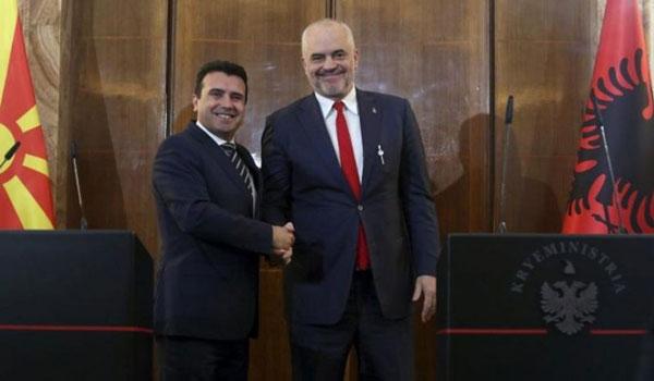 Για Πρέσπες και εθνικισμό προειδοποιούν Ζάεφ και Ράμα μετά το όχι της ΕΕ